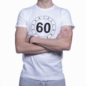 T-shirt Uomo Sessantallora Bianca con Logo Outline Nero
