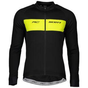 abbigliamento ciclismo Maglia SCOTT RC Warm M/L Black/Sulphur Yellow