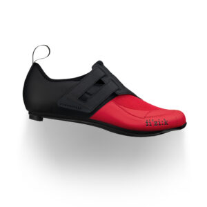scarpe bici triathlon Fizik Transiro Powerstrap R4 Black/Red