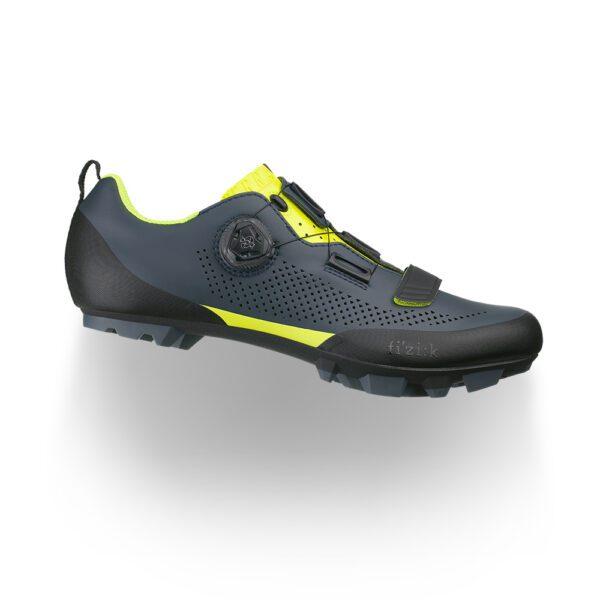 scarpe mtb Fizik Terra X5 Grey/Yellow Fluo