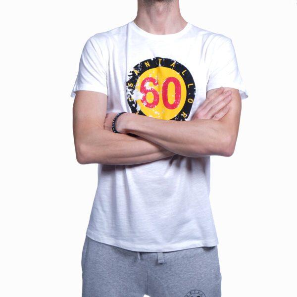 """Abbigliamento tempo libero - T-shirt Uomo Sessantallora Bianca con Logo """"Belgio"""""""
