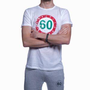 """Abbigliamento tempo libero - T-shirt Uomo Sessantallora Bianca con Logo """"Italia"""""""