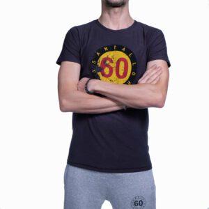 """Abbigliamento tempo libero - T-shirt Uomo Sessantallora Blue con Logo """"Belgio"""""""