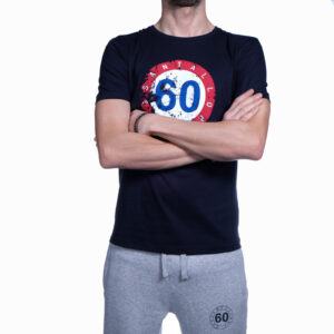 "Abbigliamento tempo libero - T-shirt Uomo Sessantallora Blue con Logo ""Francia"""