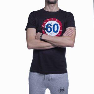 """Abbigliamento tempo libero - T-shirt Uomo Sessantallora Nera con Logo """"Francia"""""""