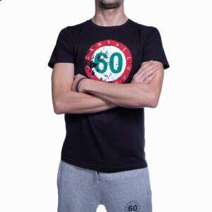 """Abbigliamento tempo libero - T-shirt Uomo Sessantallora Nera con Logo """"Italia"""""""