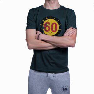 """Abbigliamento tempo libero - T-shirt Uomo Sessantallora Verde con Logo """"Belgio"""""""