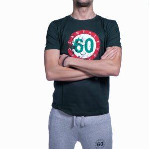 """Abbigliamento tempo libero - T-shirt Uomo Sessantallora Verde con Logo """"Italia"""""""