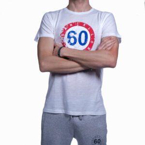 "Abbigliamento tempo libero - T-shirt Uomo Sessantallora Bianca con Logo ""Francia"""