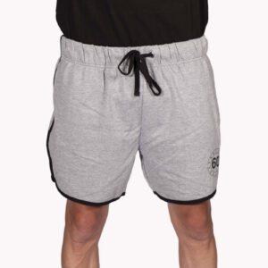 Pantaloni Corti Uomo Retro Sessantallora Grigio con Banda Nera
