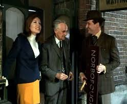 Diana Rigg, John Laurie and Patrick MacNee in episode 'A funny thing  happened on the way to the station' of The Avengers. | Emma peel, Avengers,  Avengers images