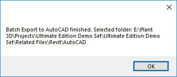 Batch Export to AutoCAD Finished