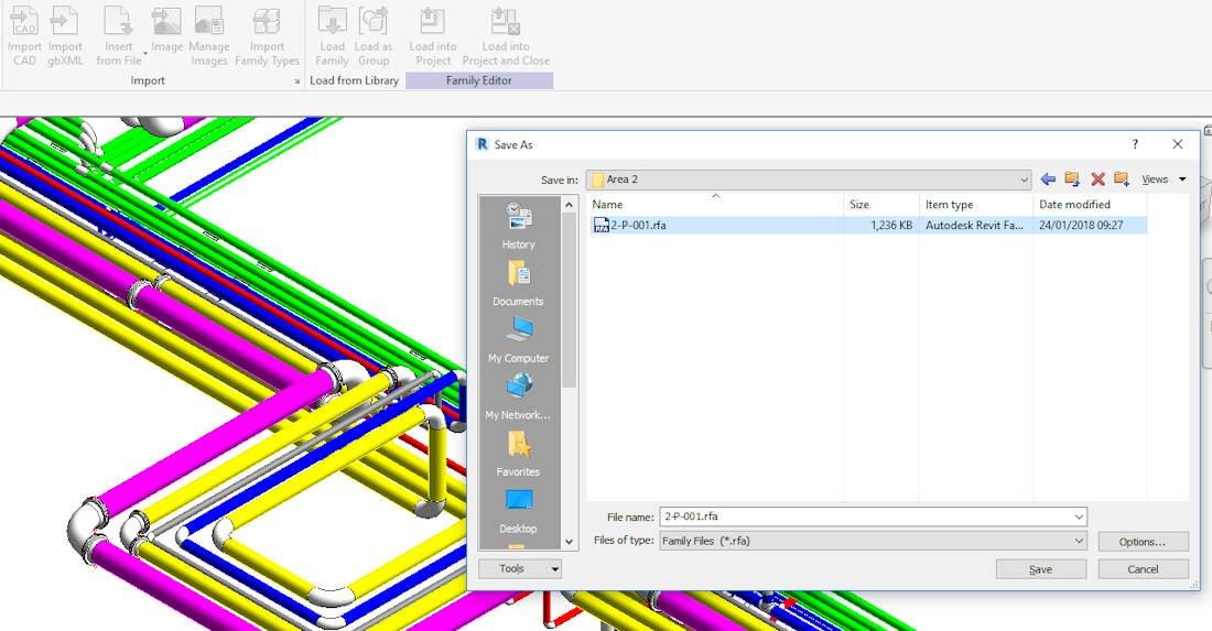 Import Plant 3D Model into Revit