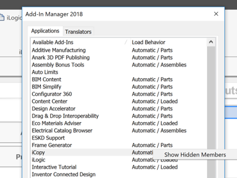 Inventor Add Ins Manager