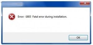 Error 1603 Message