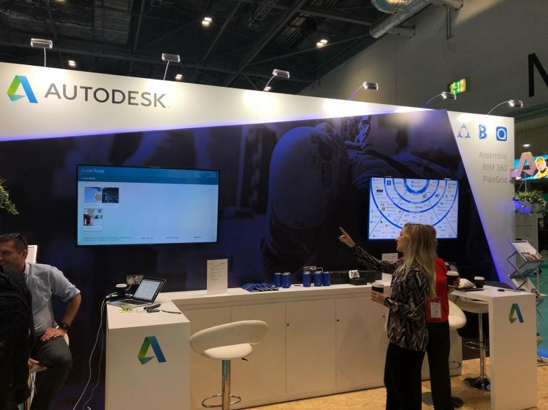 Autodesk Stand at Digital Construction Week 2019