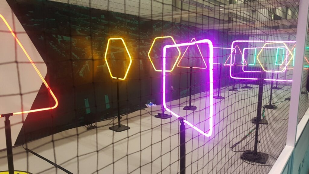 Neon Drone Racing Course