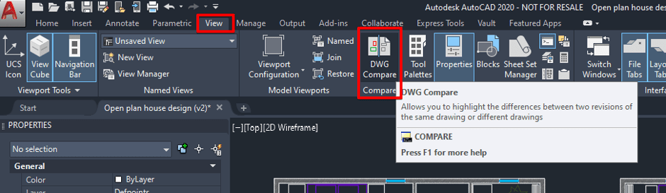 Drawing Compare Button