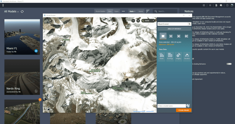 Everest Model in Infraworks
