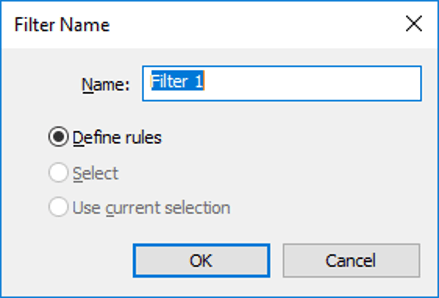 New Filter Name
