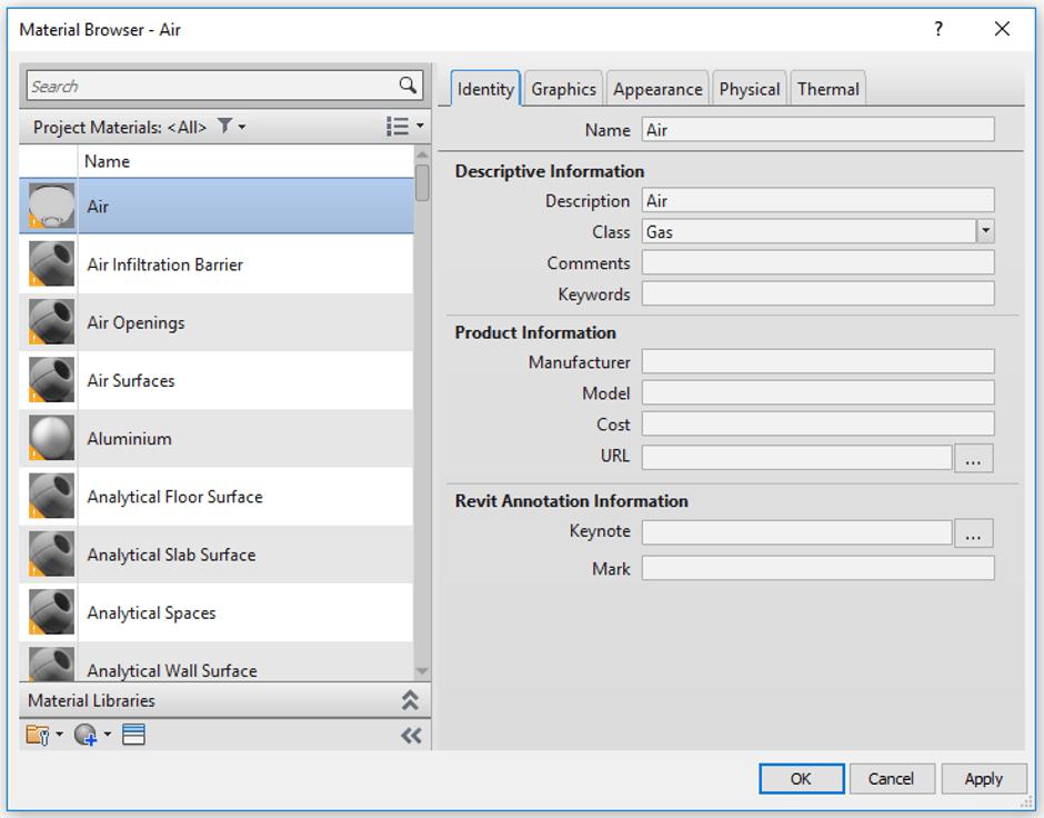 Revit Materials Browser