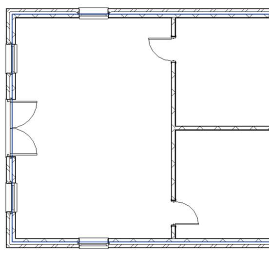 Revit Plan Section with Doors