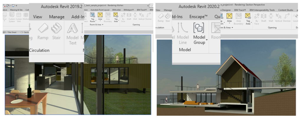 Image showing versions of Revit