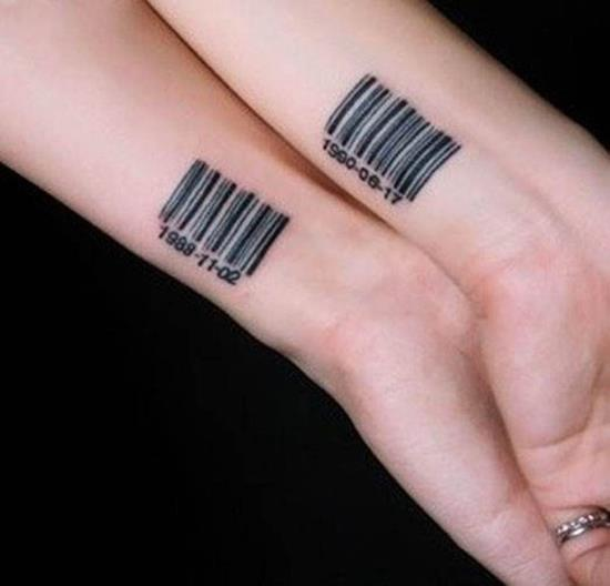 Barcode Matching Tattoo