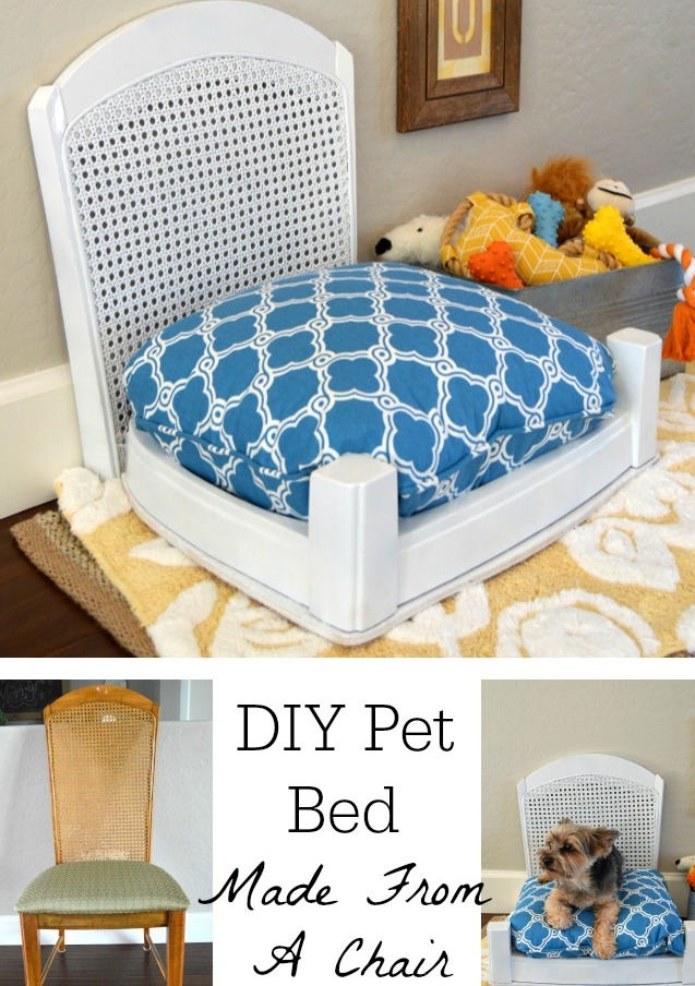 DIY Dog Bed From Old Chair