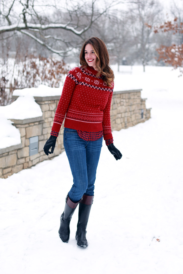 Red Sweater Jeans & Vintage Boots