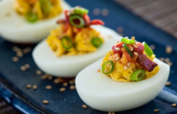 Savoury Devilled Eggs