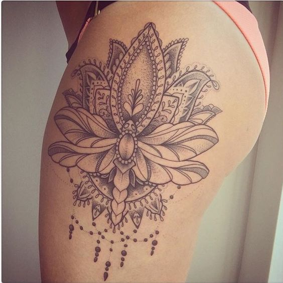 Thigh Tattoo For Women