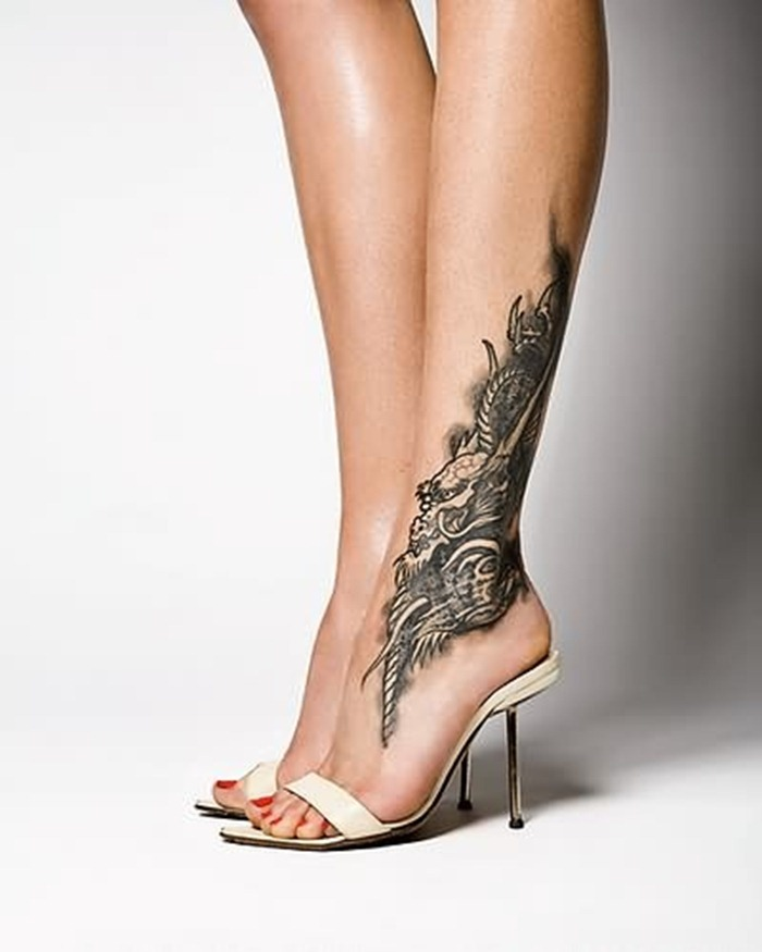 Dragon Tattoos For Women On Foot