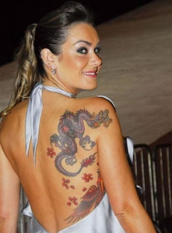 Shoulder Dragon Tattoo For Women