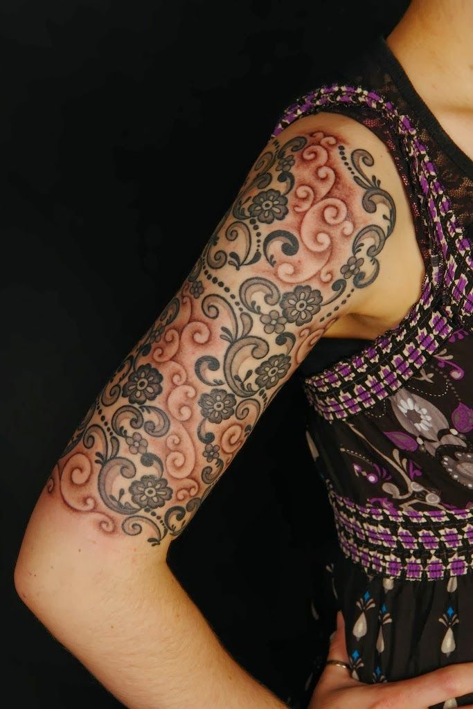 Half Sleeve lace Tattoo
