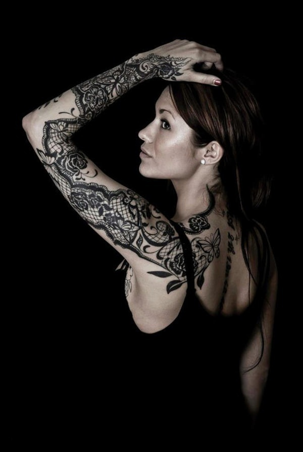 Lace Sleeve Tattoo
