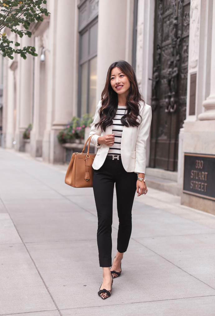 Classic Black Ankle Pants + Leopard Flats Beautifulfeed