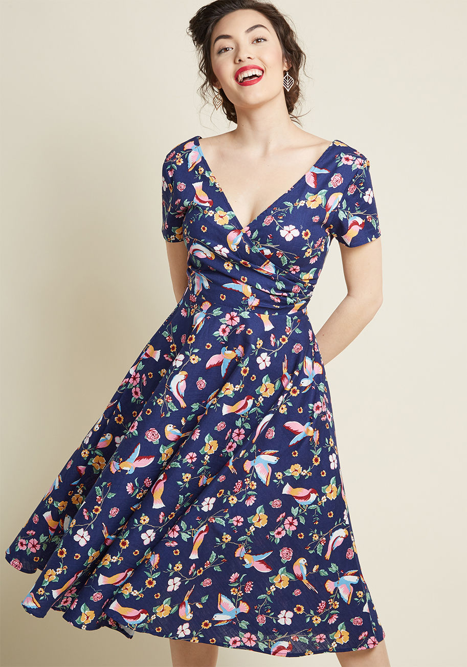 Collectif Go for Flawless Cotton Midi Dress Beautifulfeed
