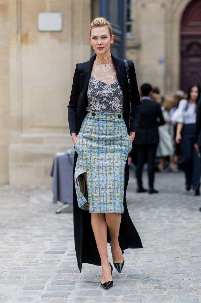 Long Blazer With Pencil Skirt Beautifulfeed