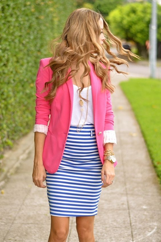 Pink Chic Blazer Work Outfit Beautifulfeed