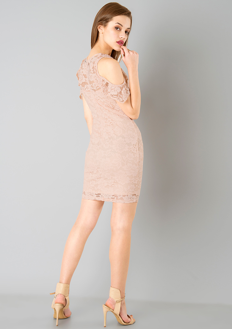 Ruffled Sleeve Lace Dress Beautifulfeed