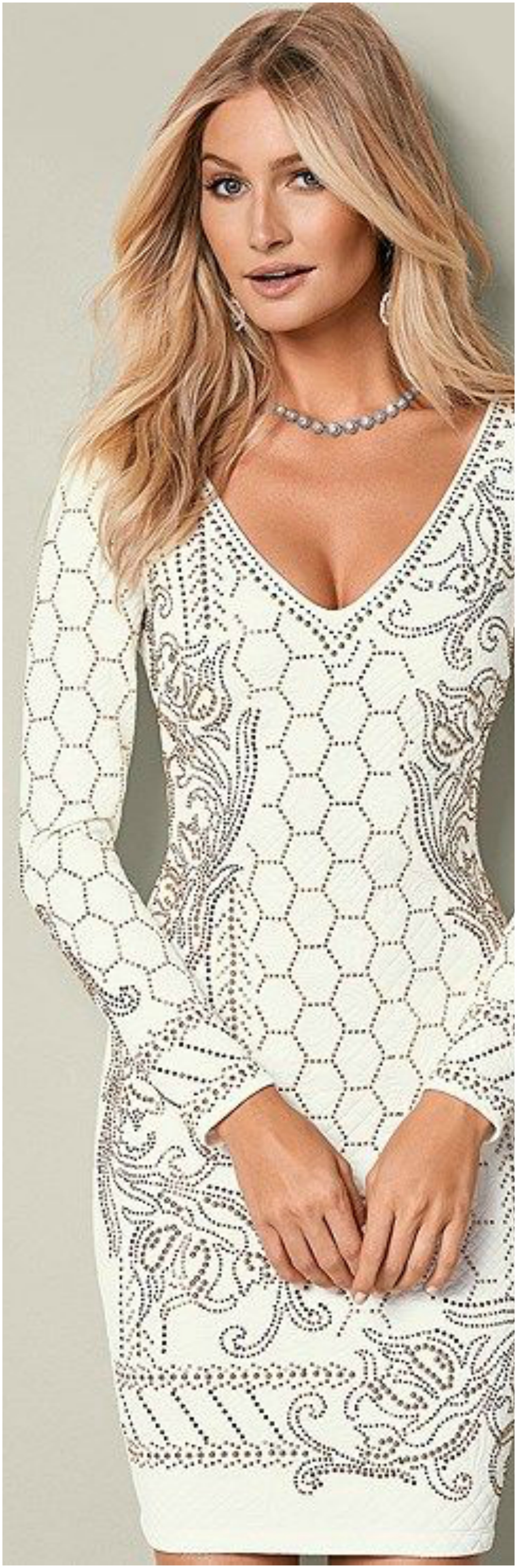 Textured Beaded Dress Beautifulfeed
