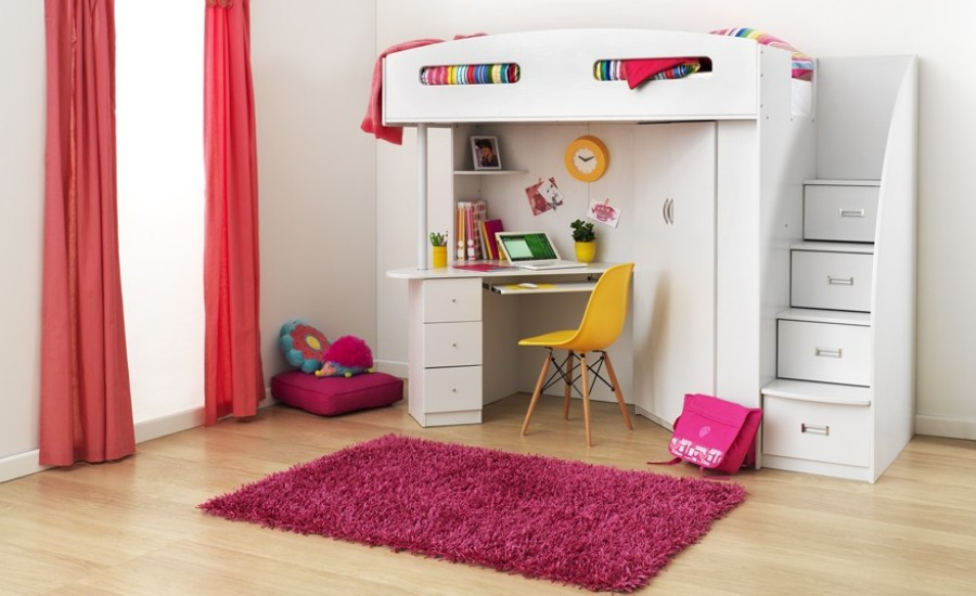 Study Bunk Bed With A Desk Beautifulfeed