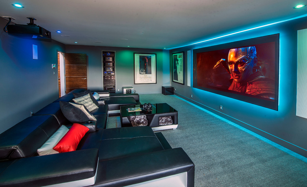 Contemporary Style Home Theater