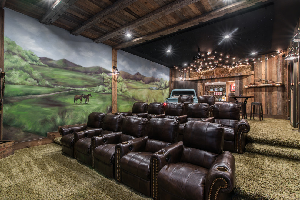 Rustic Style Home Theater