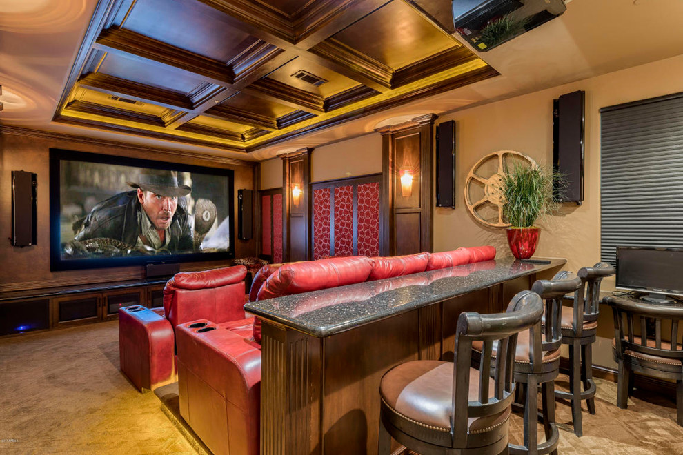 Southwestern Style Home Theater