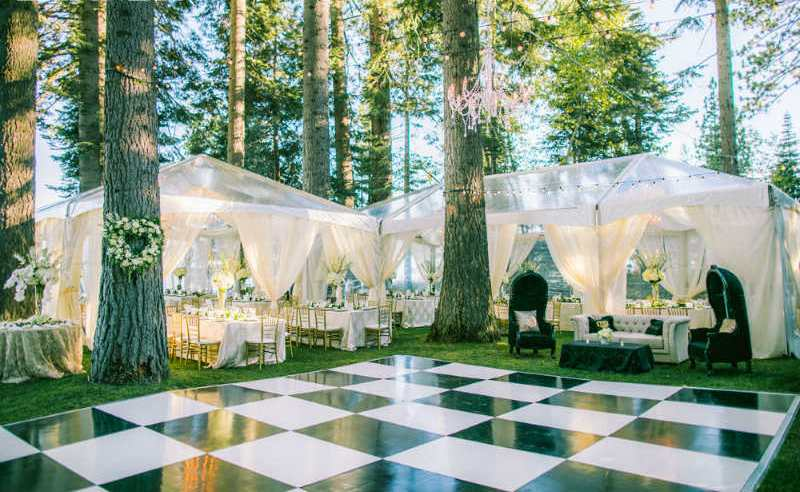 Tented Wedding with Checkerboard Dance Floor
