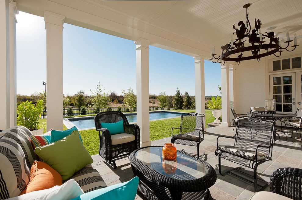 Traditional House Outdoor Mismatched Furniture