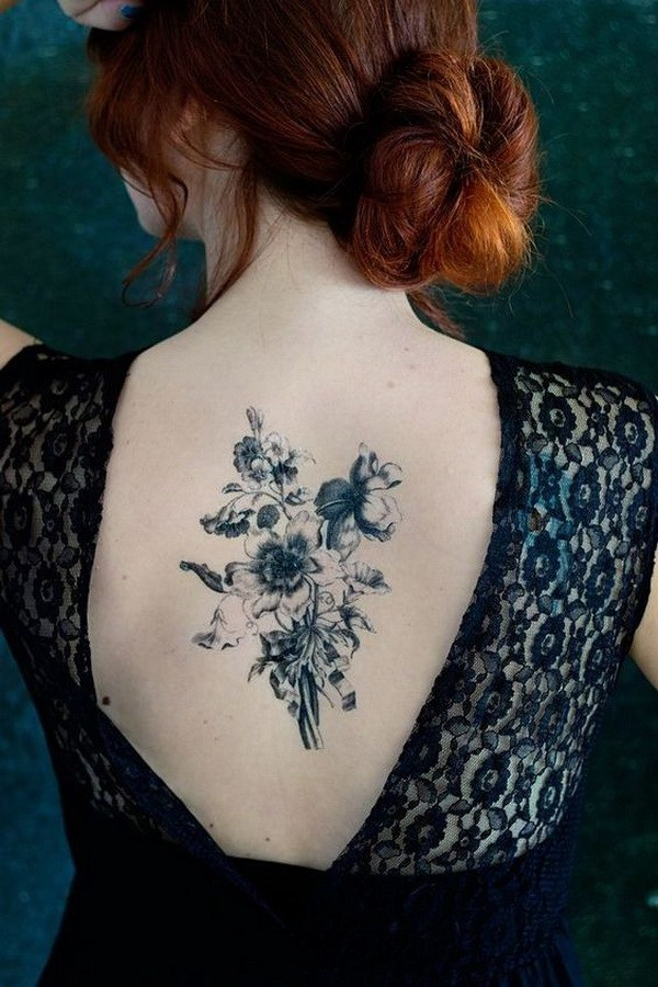Bouquet Back Tattoo