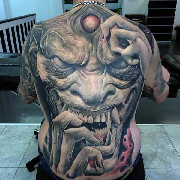 Full Back Horrendous Ogre Tattoo